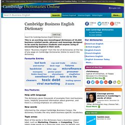Home page for Business English Dictionary