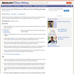 Using the Dictionary to Discover Writing Prompts