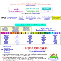 LITTLE EXPLORERS Picture Dictionary by EnchantedLearning.com