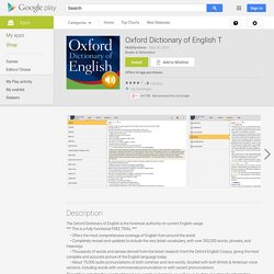 Oxford Dictionary of English T – Applications Android sur GooglePlay