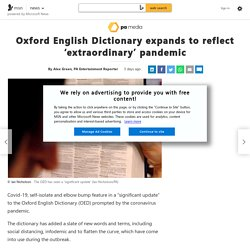 Oxford English Dictionary expands to reflect 'extraordinary' pandemic