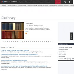 Investopedia.com Financial Dictionary