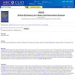 ODLIS — Online Dictionary for Library and Information Science