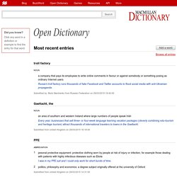 Open Dictionary from Macmillan Dictionary: Free English Dictionary Online with Thesaurus