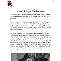 A Short Dictionary of Psychoanalysis