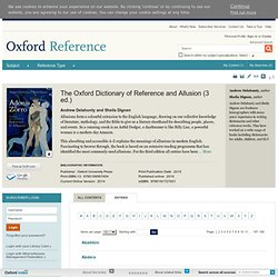 The Oxford Dictionary of Reference and Allusion Oxford Reference