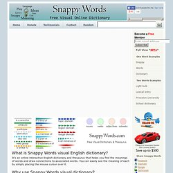 Synonyms Dictionary at SnappyWords.com
