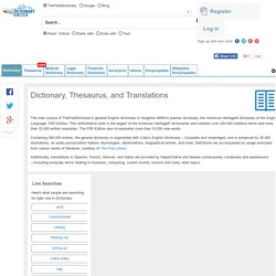 Dictionary, Thesaurus, and Translations