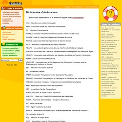 Dictionnaire d'abréviations- Famidac
