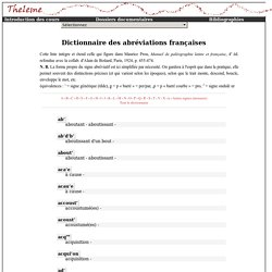 Dictionnaire des abréviations françaises