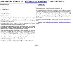 Dictionnaire médical de l'Académie de Médecine