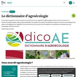 INRAE 06/01/20 Le dictionnaire d'agroécologie