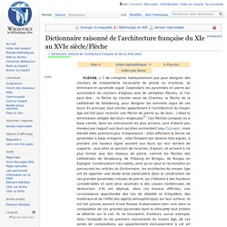 Dictionnaire raisonné de l'architecture française du XIe au XVIe siècle/Flèche