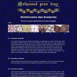 DICTIONNAIRE DES BRODERIES - Artisanat pour tous