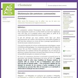 Dictionnaire des communs : commoniste