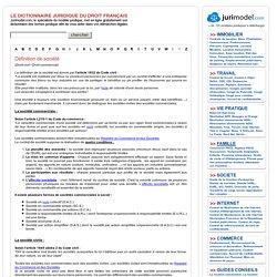 Le dictionnaire Juridique de Jurimodel.com : Définition de société