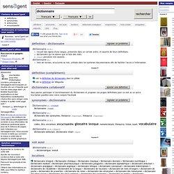 dictionnaire : définition de dictionnaire et synonyme de dictionnaire