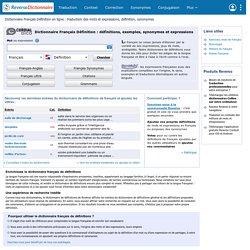 Reverso : dictionnaire français de définitions pour mobile