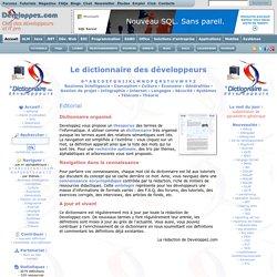 Dictionnaire des développeurs