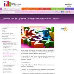 Dictionnaire en ligne de Sciences économiques et sociales