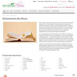 Dictionnaire des fleurs