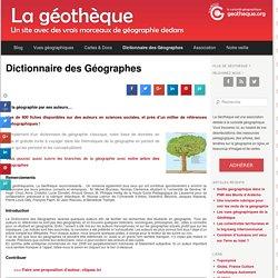 Dictionnaire des Géographes