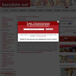 Le dictionnaire de l'Histoire - Code noir - Herodote.net