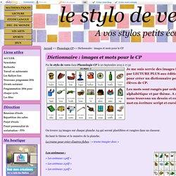 Dictionnaire : images et mots pour le CP
