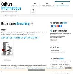 Dictionnaire informatique
