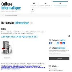 Dictionnaire informatique TB