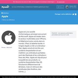 Définition Apple — Dictionnaire informatique