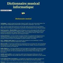 BTFRANCE.COM - dictionnaire musical et informatique (MAO)