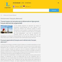 Dictionnaire Français-Allemand - Langenscheidt