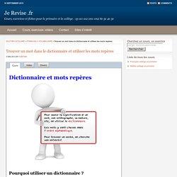Le dictionnaire et les mots repères