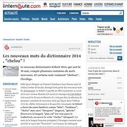 """Les nouveaux mots dudictionnaire 2014 , """"chelou""""!"""