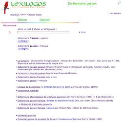Dictionnaire gascon en ligne, grammaire, littérature