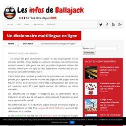Un dictionnaire multilingue en ligne