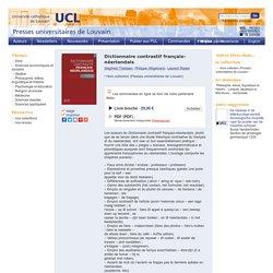 Dictionnaire contrastif français-néerlandais