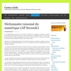 Dictionnaire raisonné du numérique (AP Seconde)