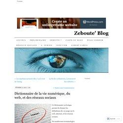 Dictionnaire de la vie numérique, du web, et des réseaux sociaux