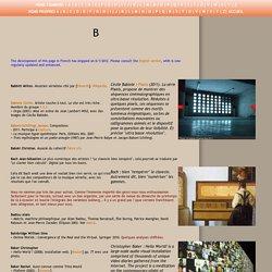Dictionnaire critique des arts numériques. Bach. Balpe. Benayoun. Berger. Bittler. BNP. Boulez. Breazeal. Robot. Bret