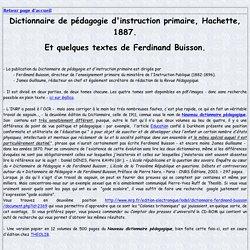 Dictionnaire de pédagogie F. Buisson