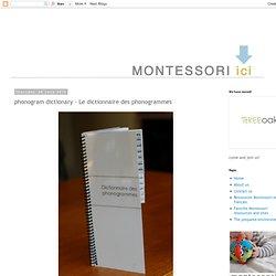 phonogram dictionary - Le dictionnaire des phonogrammes