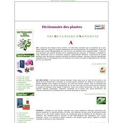 Dictionnaire des plantes