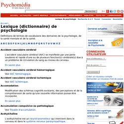 Lexique (dictionnaire) de psychologie