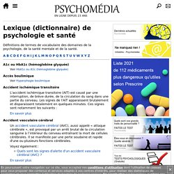 Lexique de psychologie et santé