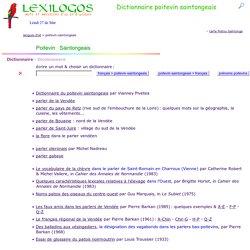 Dictionnaire poitevin saintongeais en ligne, grammaire, littérature
