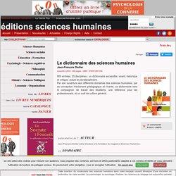 Le dictionnaire des sciences humaines(Jean-François Dortier)