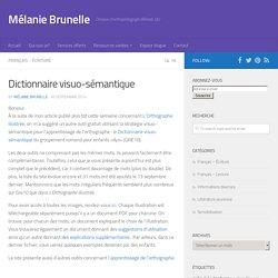 Dictionnaire visuo-sémantique - Mélanie Brunelle