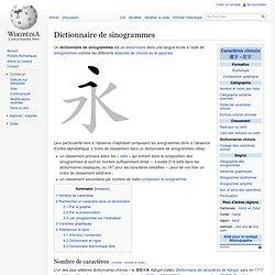 Dictionnaire de sinogrammes
